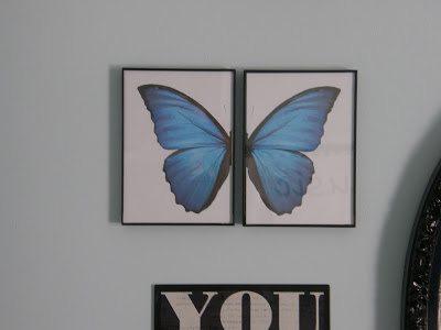 Pottery Barn Teen Knock Off Butterfly Wall Art Knock
