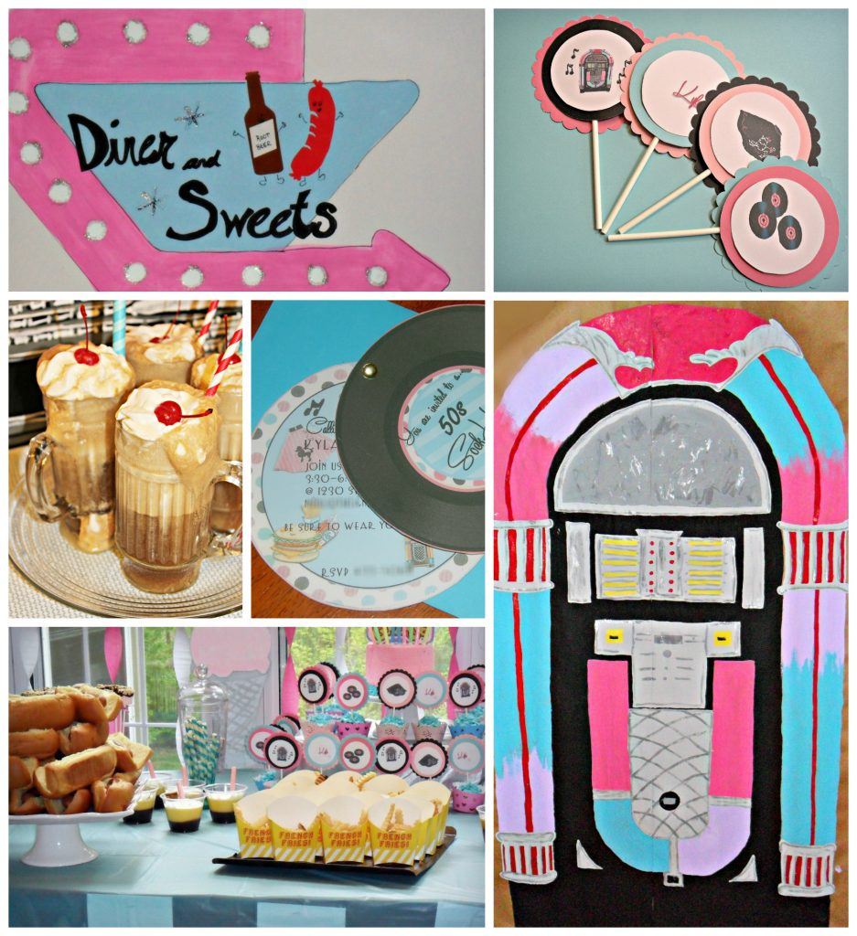 Birthday party ideas for hosting an inexpensive 50s sock hop themed