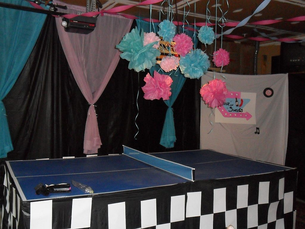 birthday party 50s sock hop set the scene