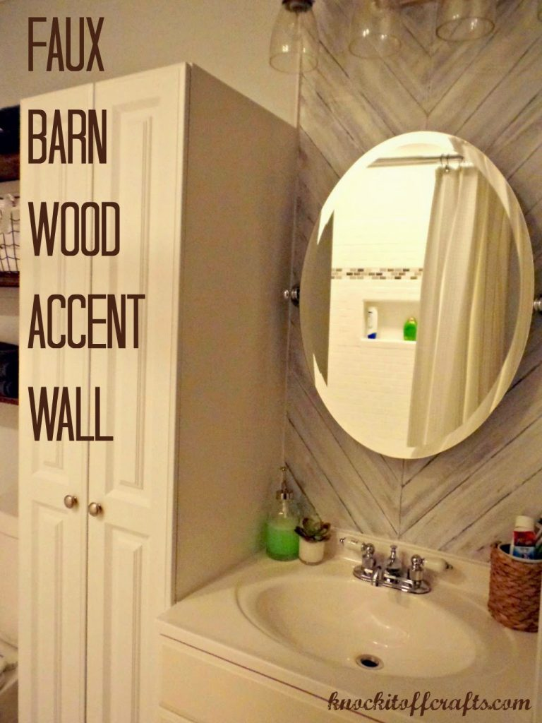 Faux Barn Wood Accent Wall A Tutorial Knock It Off Kim
