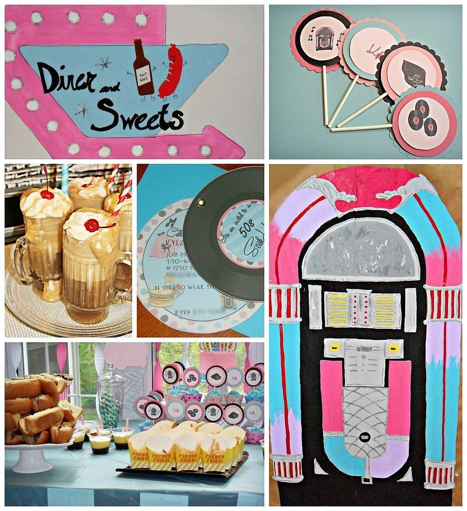 Party Decorations: How to make 50s Party Props