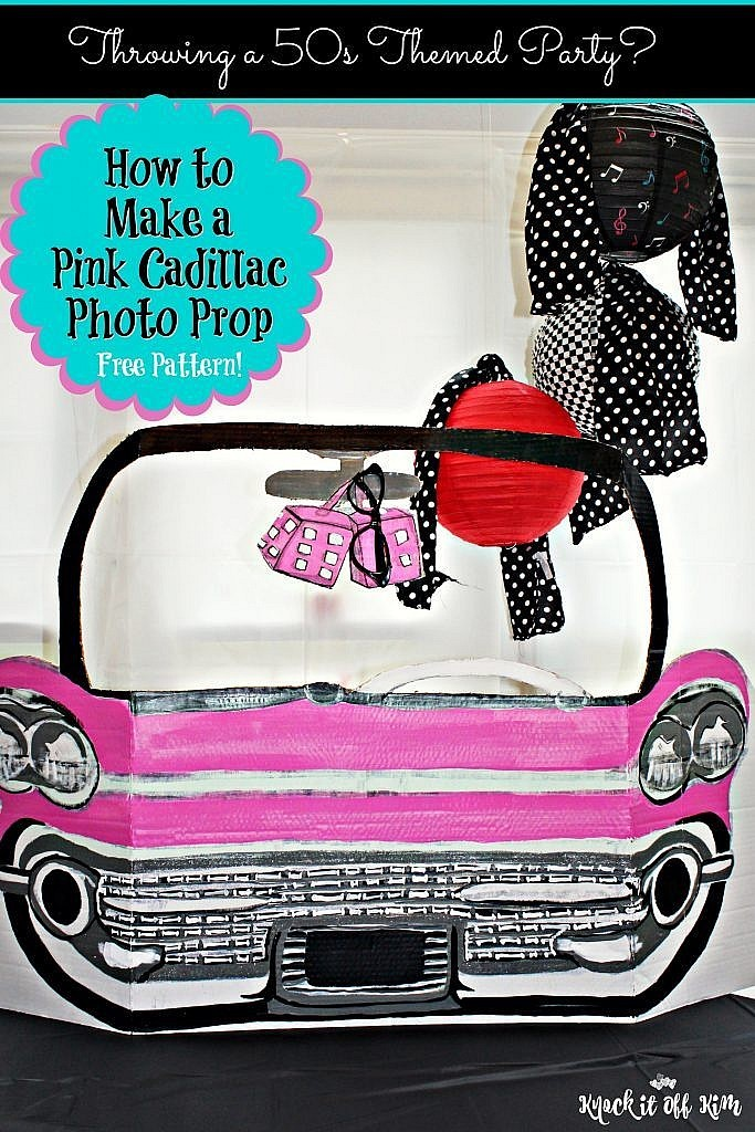 Cardboard furniture tutorial - How To Make The Cutest Fabulous 50 S Car Cut Out You Ve