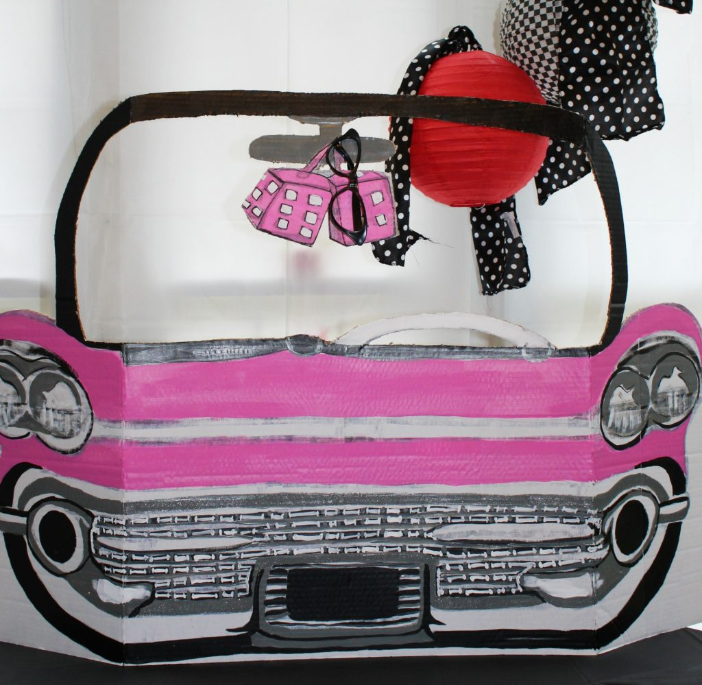 birthday-party-50s-sock-hop pink cadillac photo prop