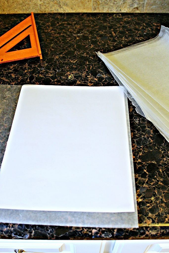 Party Decorations: How to make 50s Pink Cadillac Photo Prop - begin tearing your wax paper sheets