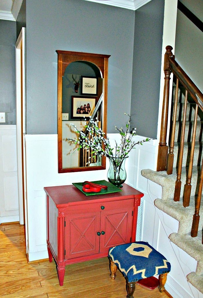 Room Over Foyer : One room challenge inexpensive foyer make over the
