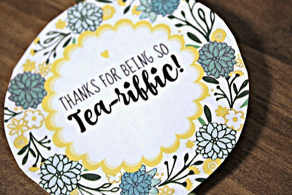 Free printable gift tags for Tea-riffic Succulent Pot