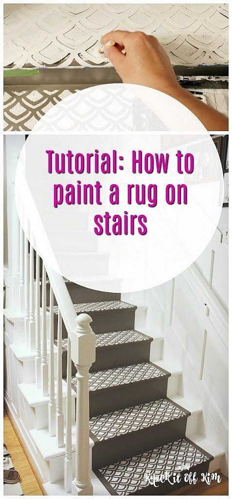 How to Paint a Rug on Stairs